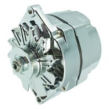 CHROME ALTERNATOR SELF EXCITING 1 WIRE SYSTEM FOR CHEVY GM BUICK