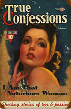 True Confessions Pin-Up Metal Sign