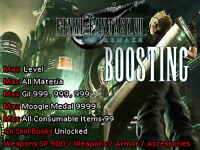 Final Fantasy VII 7 Remake PS4 Mod Boost Max Gil Level Materia Items SP