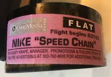 """Rare Nike Sneakers Film Trailer Commercial Nike """"Speed Chain"""" 6/27/03 35mm Film"""