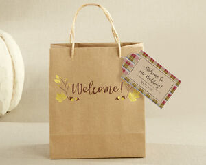 24 Personalized Gold Foil Welcome Wedding Favor Bags