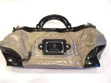 Paolo Masi grey & black leather handbag/purse/pocketbook