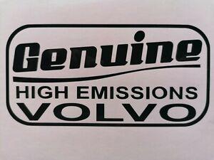 Genuine High Emissions VOLVO sticker 142 145 245 240 740 v90 s70 s40 v40 940 960