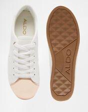 ALDO Rafa White Metal Toe Cap Sneakers - Size US 6.5/ EU 37