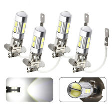 4PCS H3 Car LED Fog Driving DRL Light Bulbs 6000K Lens 10SMD Lamps High Beam