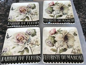 Certified International Marche & Jardin Fleurs Salad/Lunch Plates Lisa Audit
