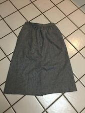 EVAN-PICONE Gray 100% Wool Long Lined Career Skirt_Vintage 12_made In USA
