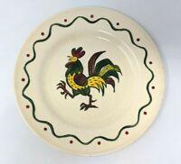 "VTG Metlox Poppytrail Rooster California Provincial Salad Plate 7.5"" L19 JN21"