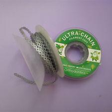 Dental Elastic Power Chains Orthodontic Ultra Rubber Band Braces Short Grey 10 X