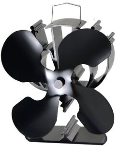 Heat Powered Stove Fan increase more 80% warm air for wood/log burner /fireplace