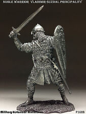 Russian warrior Tin toy soldier 54 mm, figurine, metal sculpture