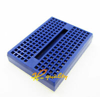 10pcs 170 Tie-points Mini Solderless Prototype Breadboard for Arduino Blue