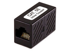 Cat5e RJ45 Inline Coupler - Black