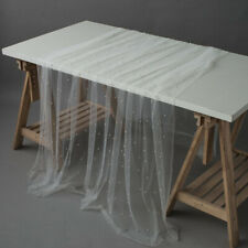 Mesh Tulle Beads Tablecloth Photoshoot Prop Table Cloth Cover Party Home Decor