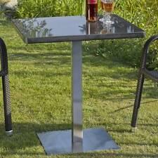 Destiny Tisch Cube Gartentisch 70 70 Edelstahl Stahl Granit Gastrotisch Esstisch