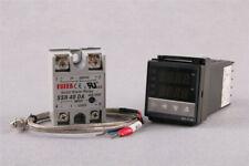100 240v Digital Pid Temperature Controller 40a Ssr K Thermocouple Probe