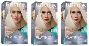 Revlon Color Effects Hair Color, Permanent Platinum Blonde Hair Dye Lot of 3