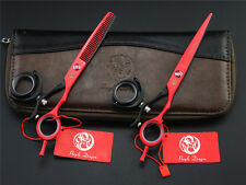 6 inch 360' Swivel Handle Hair Scissors PRO Hairdressing Cutting Thinning Shears