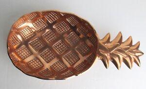Artisanal Creations Rose Gold Aluminum Decorative Pineapple Bowl Ottoman Tray