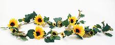 Sonnenblumengirlande große Blüten 200cm Floristik Blumen Girlande Deko Sonne