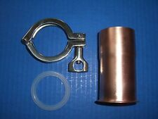 """Easy Moonshine Beer Keg Still Copper 2"""" Pipe Column Adapter Tri Clamp alcohol"""