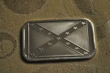 CONFEDERATE REBEL FLAG 1 TROY OZ .999 FINE SILVER ART BAR COIN