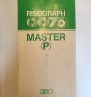 🌟(2 Rolls, 1 Box) Risograph 007D Riso Master P  (270MM X 100MM) NEW