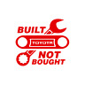 Cruiser Built Not Bought Land Cool Best Decal Sticker in Multi color