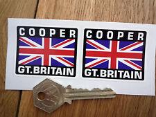 COOPER Great Britain Union Jack Style Stickers 50mm Pair Car Mini Austin Morris