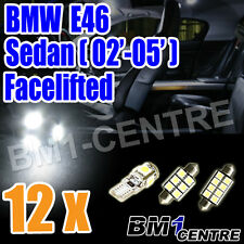 BMW 3 SERIES E46 SEDAN 02'-05' LED LIGHT LAMP BULB KIT INTERIOR FOOTWELL LUGGAGE