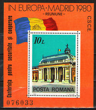 Romania 1980 Sc2972 MiBlk174  1 SS  mnh  European Security Conference, Madrid