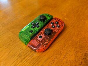 💖 Clear Nintendo Switch Custom Joycons Clear Joy-Cons with D-Pad button💖