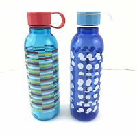 Starbucks Water Bottles Lot of Two Blue Teal 25 Ounces Reusable Twist Cap New