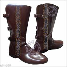 Mens Vintage Dark Brown Western Cowboy Boots Leather Retro Ranch Long Shoes