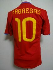 Spain #10 Fabregas 100% Original Soccer Jersey 2010 Home Kit M Good Condition