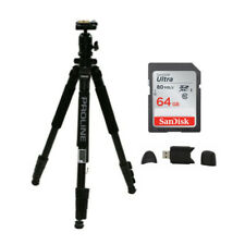 Dolica AX620B 62-Inch Proline Tripod and Ball Head with SD Card Bundle