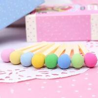 8pc/set Matches Eraser Mini Novelty Rubber Kawaii Students Stationery Kids Gifts