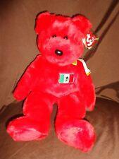 "Beanie Buddies Red Osito Bear Mexico Flag 15"" Plush Soft Toy Stuffed Animal"