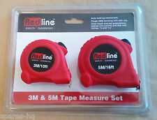 Redline 3M & 5M Tape Measure Set Tough ABS Housing with Autolock and belt clip