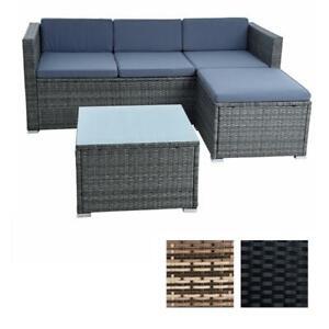 Rattan Sitzgruppe Lounge Rattanmöbel Gartenmöbel Polyrattan Set Sofa Essgruppe