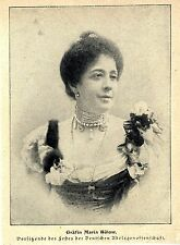 Gräfin Maria Bülow Berliner Gesellschaftsleben Vorsitzende des Festes der...1905