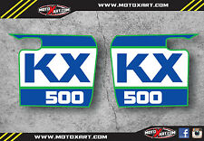 Kawasaki KX 500 1988 - 2004 Classic retro original tank  stickers / decals