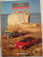 VAUXHALL ASTRA CABRIOLET brochure 1993