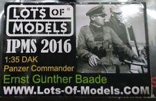 WWII 1/35 GERMAN SOLDIER PANZER COMMANDER ERNST GUNTHER BAADE resin figure A-56