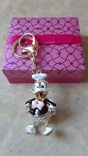 Black Donald Duck Key Chain, Woman's Handbag Charm,  Bling Donald Duck Key Ring