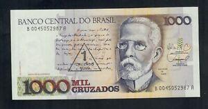 BRAZIL 1 CRUZADO NOVO ON 1000 CRUZADOS ( 1989 ) PICK # 216b UNC.