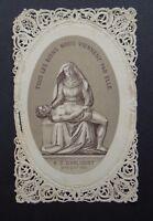 CANIVET N.D. D'ARLIQUET Image Pieuse HOLY CARD 19thC Santino 1