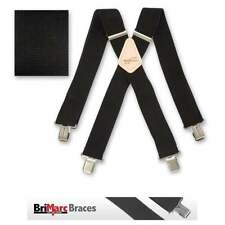Brimarc Mens Heavy Duty Trouser Belt Suspender 50mm Wide Black Adjustable Braces