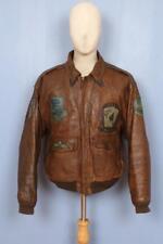 Superb Vtg AVIREX A-2 Patched USAAF Flight Leather Jacket Large
