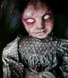 Creepy Doll glow in the dark eyes | Horror Decor | Goth Doll | Halloween  prop